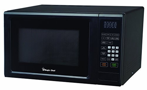 Magic Chef 1.1 cu. ft. Countertop Microwave in Stainless Steel and Black