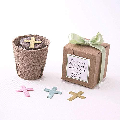 - Plantable Seed Paper Cross Garden Kits - Set of 12