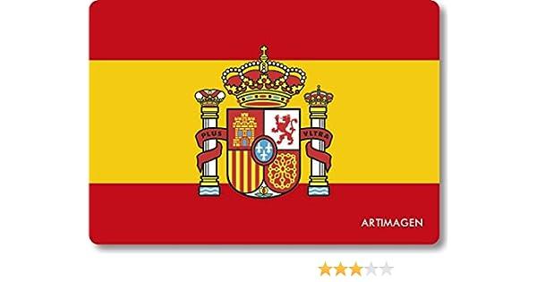 Artimagen Imán Bandera España con Escudo 80x55 mm.: Amazon.es: Hogar