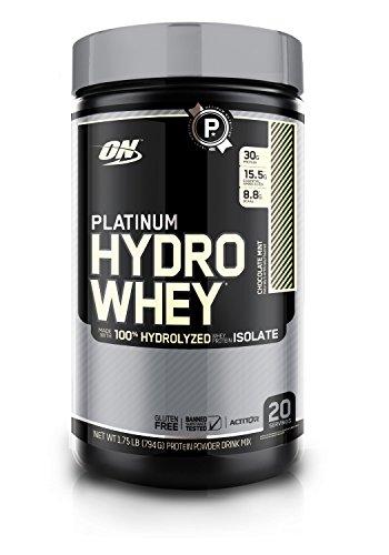 OPTIMUM NUTRITION Platinum Hydrowhey Protein Powder, 100% Hydrolyzed Whey Protein Isolate Powder, Flavor: Chocolate Mint, 1.75 Pounds