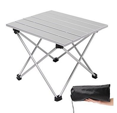 Pasabideak Mesa plegable portátil de aleación de aluminio para barbacoa, mesa de camping, mesa