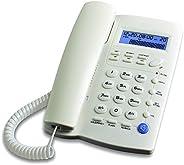 Ornin Y043 - Teléfono con Cable con Altavoz, visualización, calculadora básica e identificador de Llamadas, Bl