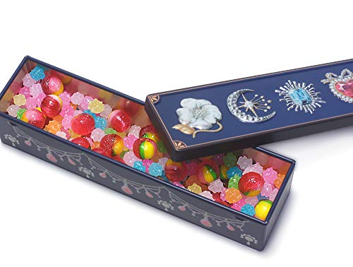 Konpeito & Candy Can Jewelry Tin Japanese Hard candy Sugar candy Flavor Mix (Sailor Moon Japanese Candy)