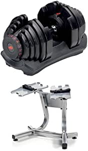 Bowflex SelectTech 1090 Adjustable Dumbbells (Pair) and Stand