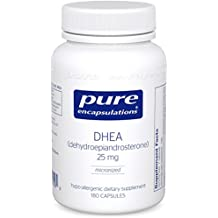 Pure Encapsulations - DHEA (Dehydroepiandrosterone) 25 mg - Micronized Hypoallergenic Supplement - 180 Capsules