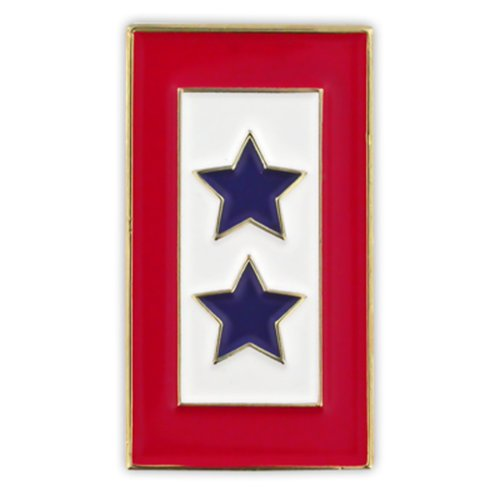 PinMart Military Patriotic Two Blue Stars Service Flag 1