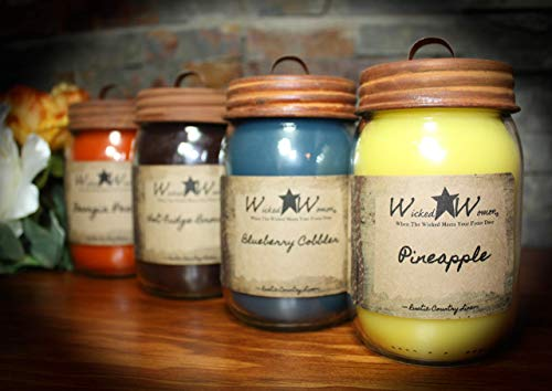Wicked Women Candles Fall Scented 16 oz Rustic Candles Jar Candle Wicked Women Home Decor Paraffin Wax Hand Poured Strong Scent