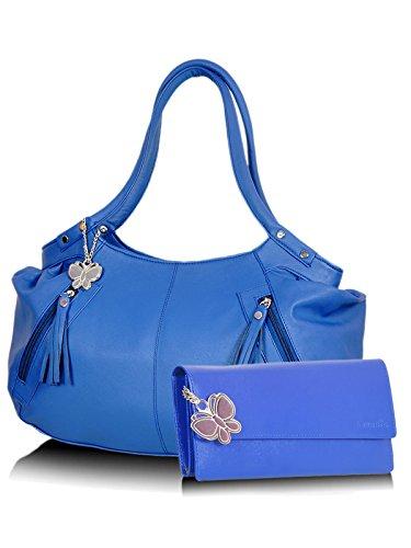 Butterflies Women's Handbag 4.5 X 17 X 9 Blue, Blue by Butterflies