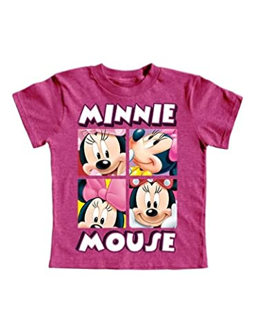 Minnie Mouse Toddler Girls 2T-4T Character T Shirt (4T) - Toddler Purple Character T-shirt