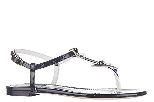 amp;Gabbana blu nuevo mujer sandalias Dolce piel en aFzFUq8