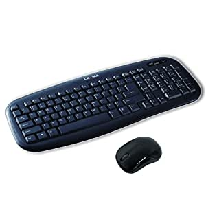 lexma wireless desktop keyboard and mouse black ls6411r computers accessories. Black Bedroom Furniture Sets. Home Design Ideas