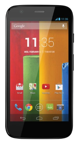 NEW GOOGLE MOTOROLA 8GB MOTO G XT1032 BLACK FACTORY UNLOCKED ANDROID 3G 2G GSM MOBILE PHONE ((2G QUAD BAND & 3G 850/900/1900/2100)