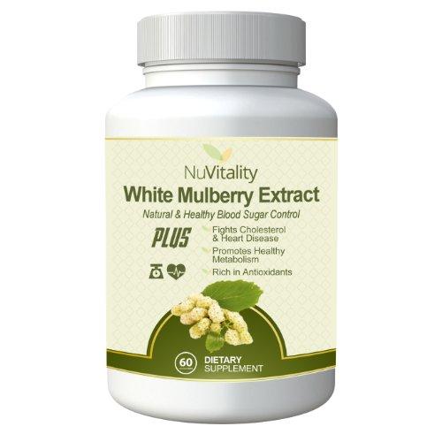 # 1 Qualité mûrier blanc Extrait complexe: Pure White Mulberry extrait de feuille d'1000mg, Sang active sucre Blocker sans additifs AS VU SUR Dr. Oz, NO Side Effect PLUS favorise une perte saine métabolisme et accélère Poids - 2 mois d'approvisionnement -