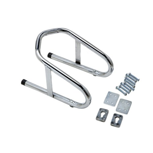 "Pit Posse 11-017 Motorcycle Removable Wheel Chock Nest Tire Trailer Holder Chrome 5 Yr Warranty 6 1/2"" Wide"
