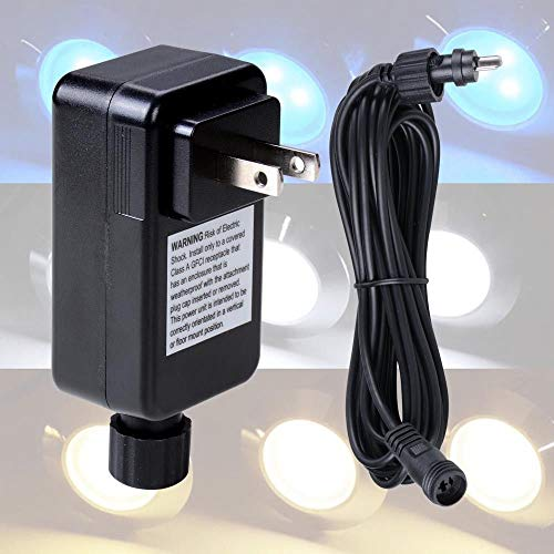 12V Transformer Plug &16Ft Wire Cable Power Cord for 5 10 15 LED Deck Light Lamp