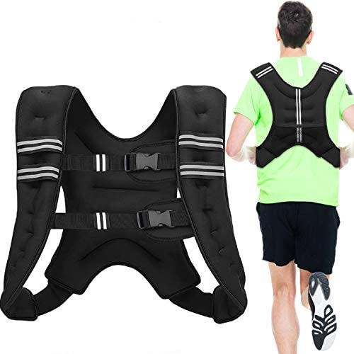 Milky House Strength Training Weights Vests Neoprene Weighted Vest Women Adjustable Weight Workout for Men Kids Gym Sports Fitness Muscle Walking Running Kettlebell Jogging, Black 11LBS