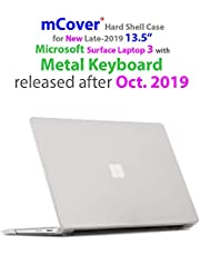 mCover Hard Shell Case for 13.5-inch Microsoft Surface Laptop 3 Computer with Metal Keyboard (NOT Compatible w/Surface Laptop 3/2 / 1 Models w/Alcantara, Surface Book and Tablet) - SL3-MK Clear