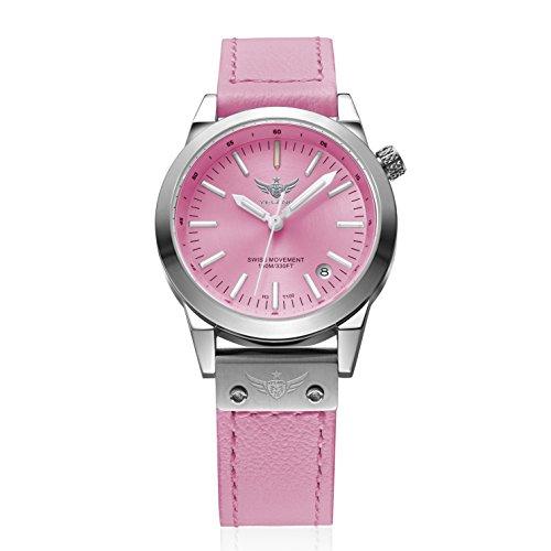 - New Arrive YELANG V1010 Upgrade Version T100 Tritium Pink Luminous Waterproof Lady Women Fashion Casual Quartz Watch Wristwatch - Pink