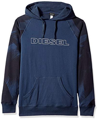 Diesel Men's UMLT-Brian Hooded Sweat-Shirt, Blue Night L ()