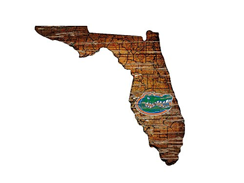 Wood University Florida (Fan Creations University of Florida Cutout Sign (State), Multi)
