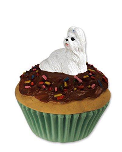 Trinket-Keepsake Box White Shih Tzu Dog ~ Cupcake