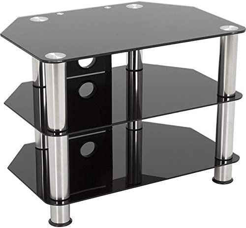 AVF SDC800CM-A Classic – Corner Glass TV Stand with Cable Mangement