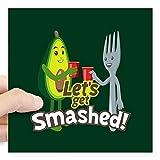 Where to Get Emoji Stickers CafePress Emoji Avocado Get Smashed Square Sticker 3 X 3 Square Bumper Sticker Car Decal, 3