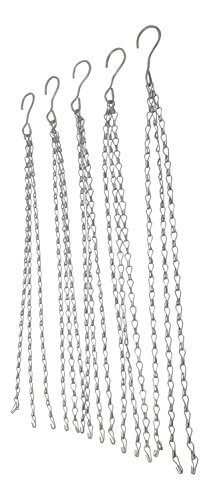 "Hanger Reflector (Hanging Shop Light Chain Grow Light Chains, 24"" Heavy Duty with Hook-LED or Fluorescent Fixture 3-Point-Clipless Design-Galvanized-Combinable/Extendable- Multiple Use Double Jack (5 PC))"