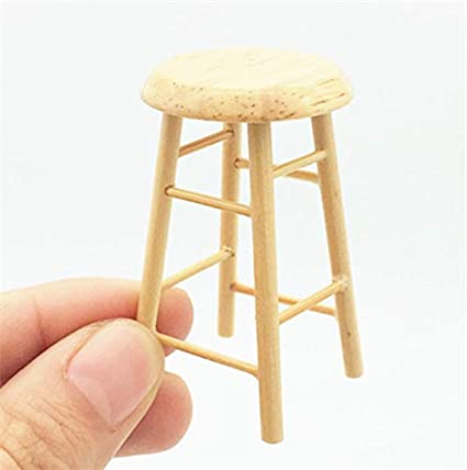 Astonishing Eatingbitingr Handcraft 1 12 Dollhouse Miniature Wooden Stool Chair Box Dollhouse Furniture Handmade 1 12 Dollhouse Miniature Pub Bar Four Stool Download Free Architecture Designs Viewormadebymaigaardcom