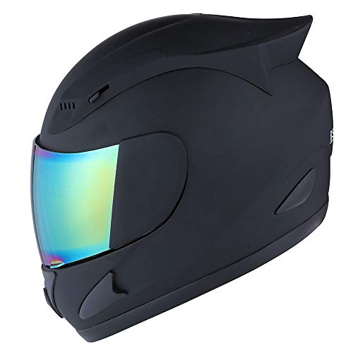 1STORM MOTORCYCLE BIKE FULL FACE HELMET MECHANIC MATT BLACK ()