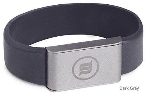 memonizerBODY EMF Protection Wrist Band from Memon of Germany (Large, Dark Gray) by Memon