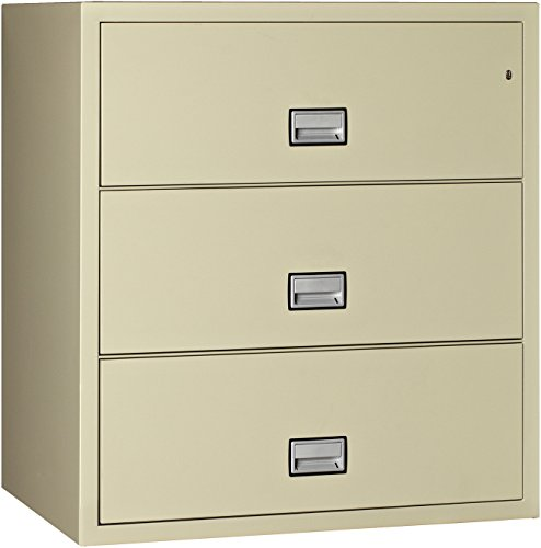 (Phoenix Lateral 38 inch 3-Drawer Fireproof File Cabinet - Putty)