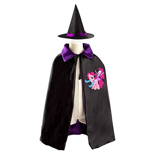 My_Little_Pony Halloween Wizard Witch Kids Cape With Hat Party Cloak