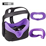 Devansi VR Eye Silicone Cover with Breathable Lines for Oculus Quest Sweatproof Lightproof Anti Light Leakage