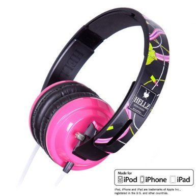 HELLZ BELLZ HEADPHONES MADE FOR IPHONE (Bigr Audio Cable)