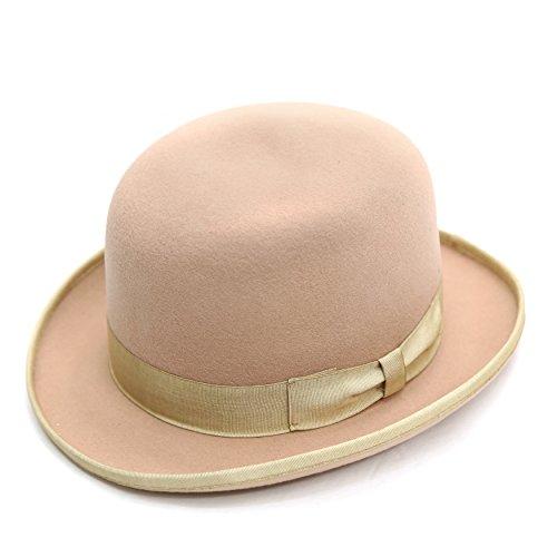 XL Ferrecci Men's Tan Wool Classic Lined Derby Hat