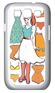 Samsung Galaxy S3 i9300 Cases Customized Gifts Cover Female with pony tail amid bras and briefs Case for Samsung Galaxy S3