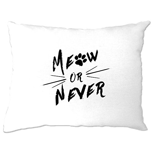 Meow Or Never Cats Kittens Paw Moggy Pillow Case