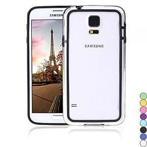 TPU Colorful + PC caso del capítulo de parachoques de la cubierta de la frontera por Samsung , Black