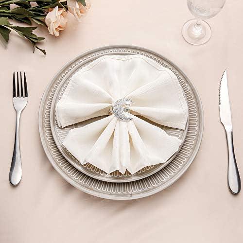 خواتم مناديل الزفاف من Aw Bridal حاملات مناديل الزفاف والولائم المنزلية المطبخ طاولة الطعام الكتان Amazon Ae