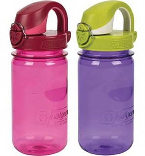 Nalgene Kids OTF Bottle with Green Cap, 12 oz, Purple