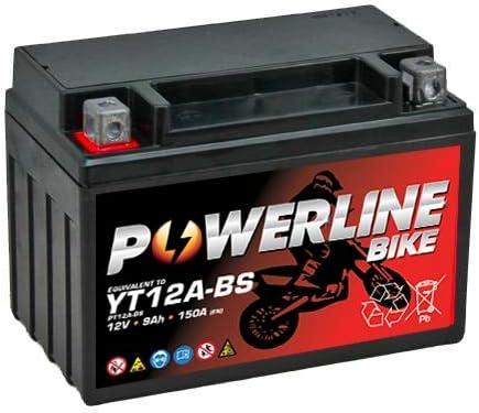 YT12A-BS Powerline Batterie Moto 12V