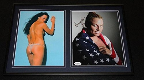 Amanda Beard SEXY Signed Framed 12x18 Photo Set - JSA Cer...