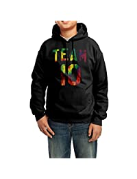 GYF9HJ-2 Kids Team 10 Tie Dye Jake Paul Hoodie Hooded Sweatshirt