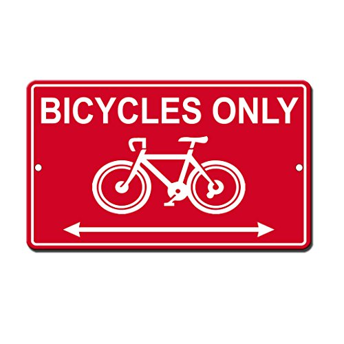 y Funny Metal Sign 8 in x 12 in (Bicycle Parking Sign)