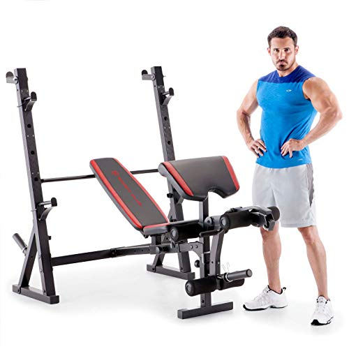 Marcy Home Gym Workout Fitness Exercise Deluxe Olympic Weight Lifting Bench