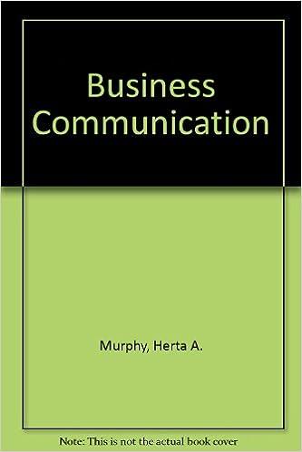 Herta Murphy Book Business Communication