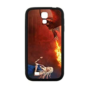 Flame of dinosaur and lovely girl Cell Phone Case for Samsung Galaxy S4