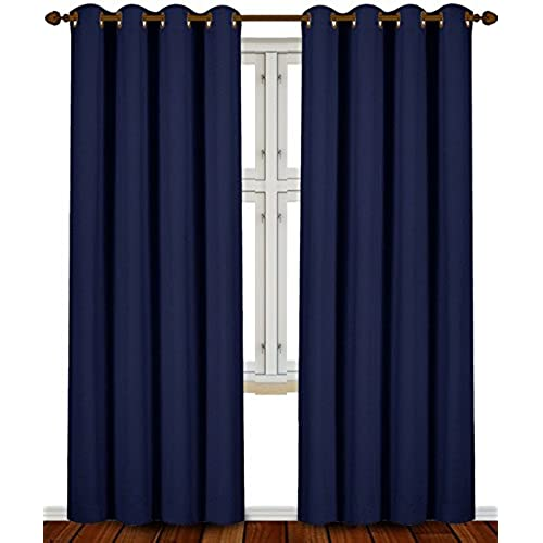 com amazon back slp per x drapes panel panels with navy tie curtains grommets and set window insulating blue included thermal