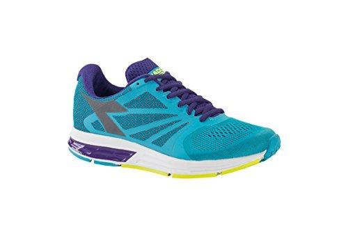 Diadora Women's Kuruka Fluo Cyan Blue/Heliotrope/Silver Athletic Shoe